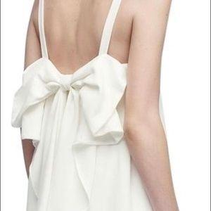 Club Monaco White Davie Bow Cocktail dress size 2